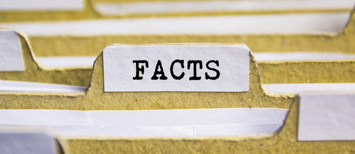 file folder with facts label