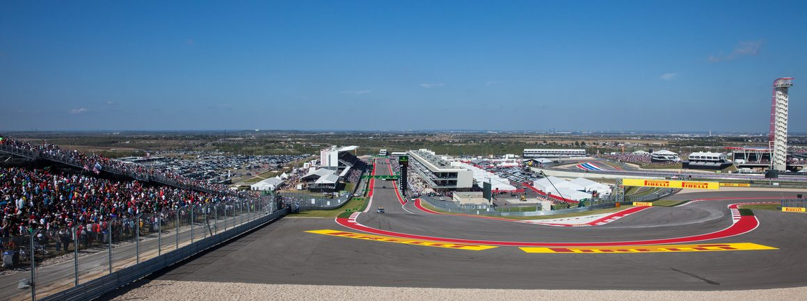 Race day at the Circuit of The America race trace during the Formula 1 United States Grand Prix