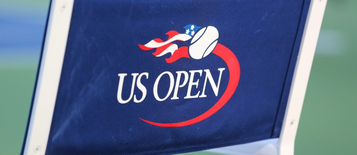 back of chair with US Open logo on it
