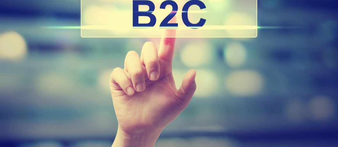 hand clicking b2c button