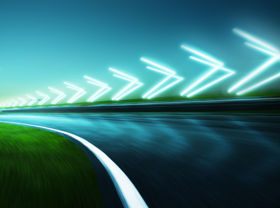 Motion blurred racetrack