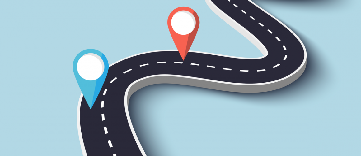 Road way location infographic template
