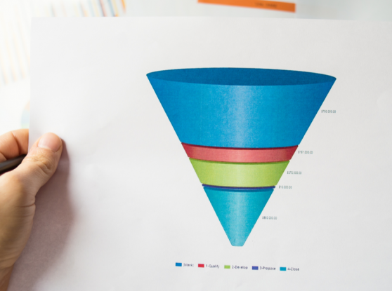picture of a funnel printed on paper