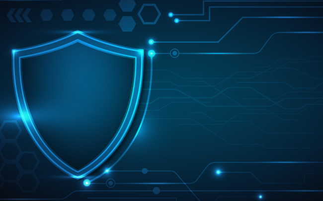 cyber security shield graphic